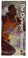 """""""The Olympic Woman"""" flyer with image of runner"""
