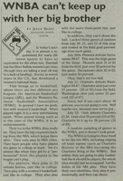"""Signal, 1998-07-28, """"WNBA Can't keep up with her big brother"""""""