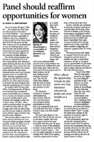 """""""Title IX: 'Minority athletes lose in quest for equity', 'Panel should reaffirm opportunities for women'"""""""
