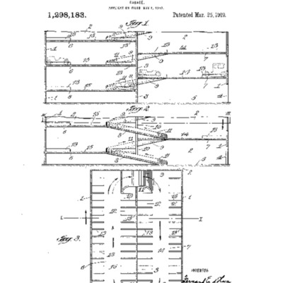Patent for d'Humy Garage