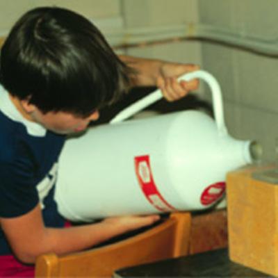 Jeff Nave pouring nitrogen
