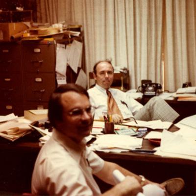 Joe Hadley and Dick Miller in Kell Hall